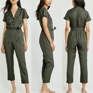 Abercrombie & Fitch Leopard Print Boiler Suit